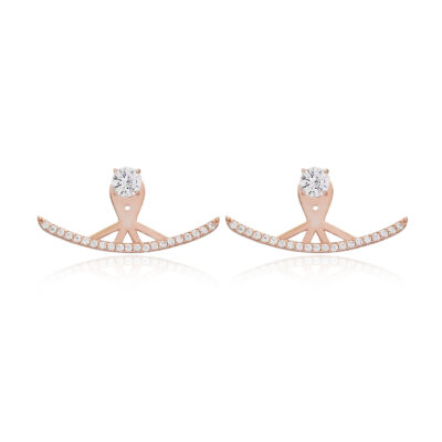 2 in 1 sets Hug me white – earring and ring