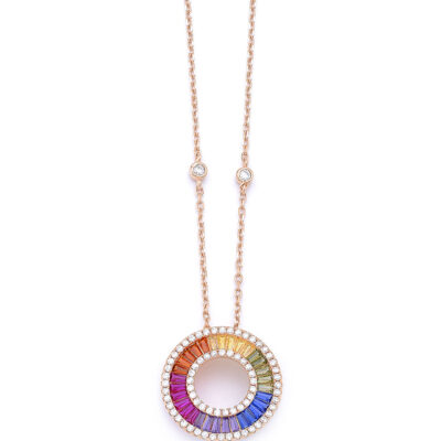 2 in 1 sets Rainbow mood – necklace and ring
