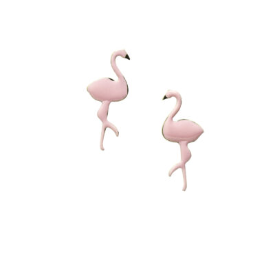 Little miss by Lovedbebe Обеци Flamingo