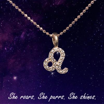 You are the Universe Leo woman сребърно колие by P.S. Minimal