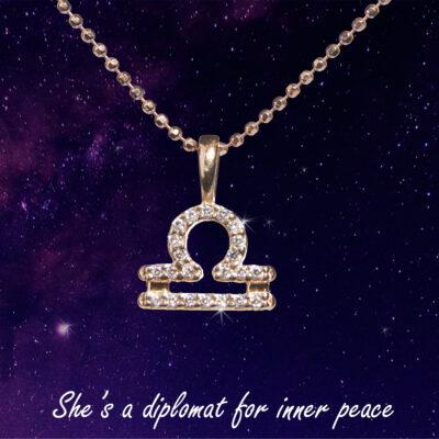 You are the Universe Libra woman by P.S. Minimal сребърно колие