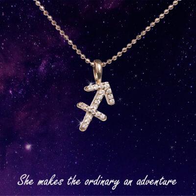 You are the Universe Sagittarius woman сребърно колие by P.S. Minimal