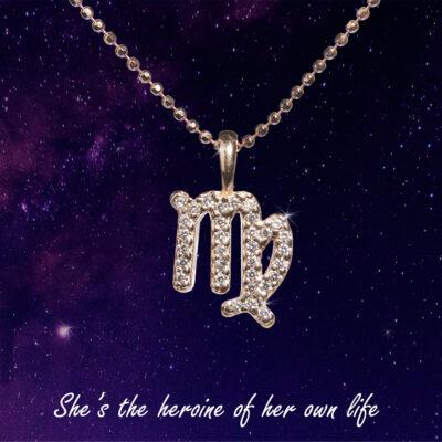 You are the Universe Virgo woman сребърно колие by P.S. Minimal