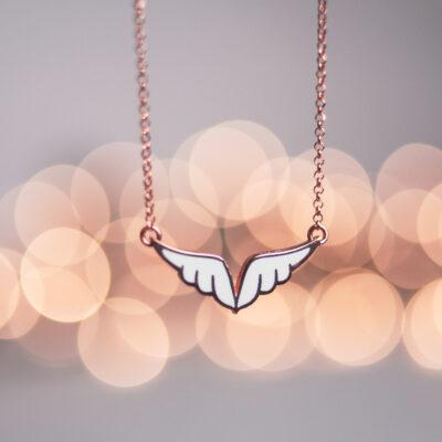 Без Категория Angel wings сребърно колие by P.S. Minimal