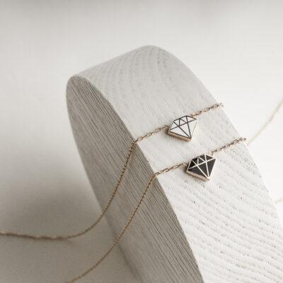 Без Категория Simply Diamond сребърно колие by P.S. Minimal